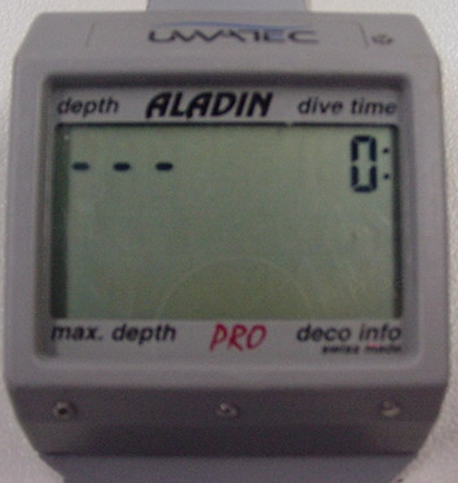 Mein kleines virtuelles tauchcomputer museum - Aladin dive computer ...